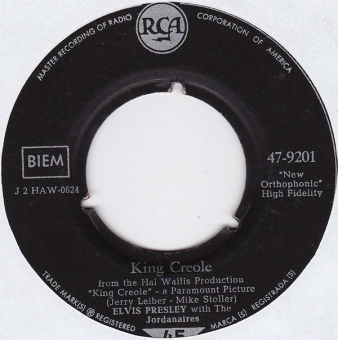 Elvis Presley With The Jordanaires ‎– King Creole