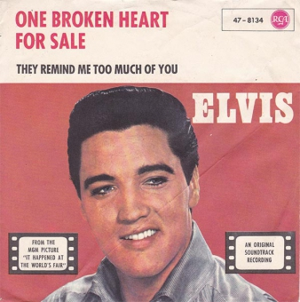 Elvis Presley With The Mello Men - One Broken Heart For Sale - Cover