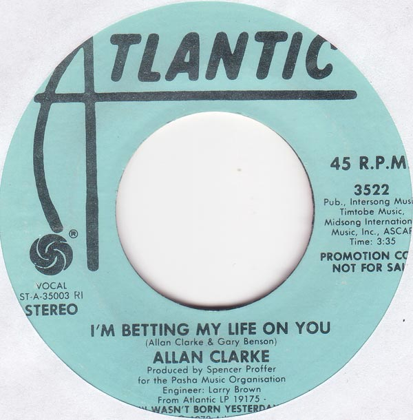 Allan Clarke - I´m Betting My Life On You