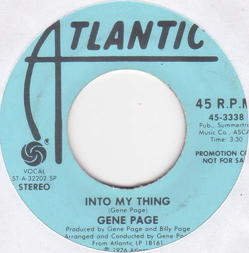 Gene Page - Into My Thing