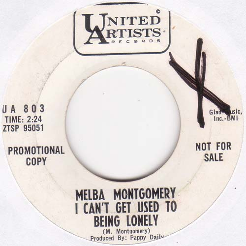 Melba Montgomery - I Can't Get Used To Being Lonely