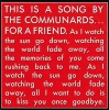 Communards - For A Friend
